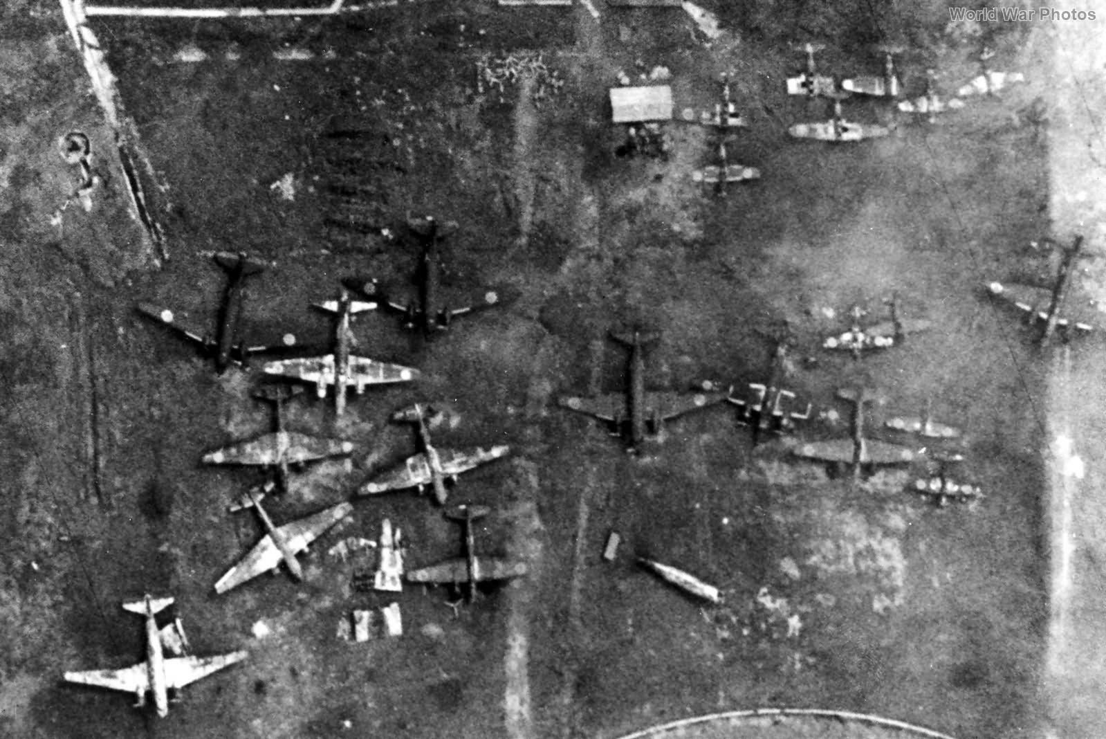 Target Recon Photo of Japanese Aircraft on Iwo Jima 15jun1944