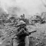 28th Marines flame thrower operator Wilfred Voegeli Iwo Jima 24feb