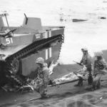 5th Marine LVT Beautiful Queenie on Yellow Beach