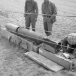 750lb Japanese rocket at salvage dump