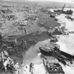 U.S. invasion forces establish a beachhead on Iwo Jima 6