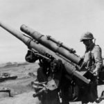 Japanese coast defense gun captured by the 4th MD on Iwo Jima