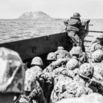 LCVP load of Marines off Iwo Jima on 1st Day of Invasion 19feb