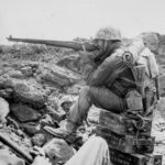 Marine NCO Sharpshooter in Action on Iwo Jima 12mar