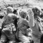 Marine Throws Grenade on Iwo Jima February