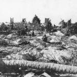 27th Division troops digging foxholes on Butaritari