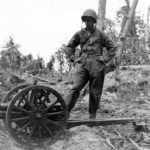 Captured Japanese 70mm Type 92 battalion gun – Makin Atoll
