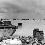 LVT and supplies, Makin Atoll beach