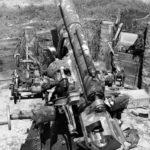 Captured Japanese naval anti-aircraft gun Type 3 – Makin Atoll