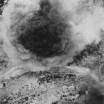 Aerial View Japanese Transport Hit New Guinea 1944
