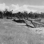 Japanese Landing Crafts At Buna Papua New Guinea