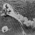 Japanese Transport Ship Bombed Off New Guinea 1944