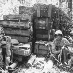 Marine Guards with Captured Japanese Ammo on New Britain