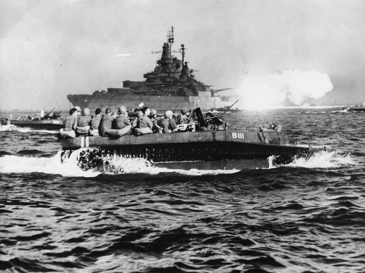 USS_West_Virginia_BB-48_Covers_Troops_in