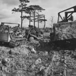 1878th Aviation Engineers Use Bulldozers to Build Road on Okinawa June 1945