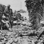 6th Division Marines Resting in Suburbs of Naha Okinawa