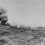 6th Marine Division Flame Throwing Tank in action Okinawa May 1945