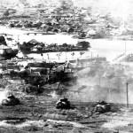 6th Marine Division Tanks Advance on Naha Okinawa