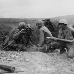 75mm Recoiless Rifle in Action Okinawa 1945