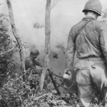 96th Division Troops Flush Out Japanese Troops on Okinawa