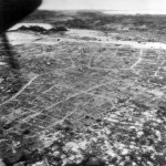 Aerial View of Leveled City of Naha Capital of Okinawa