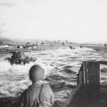 Amphibious approach Okinawa beach 1945