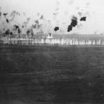 Battleship fires at Japanese Plane 1 April 1945 Okinawa