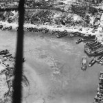 Beach Crowded with US Landing Craft during Okinawa Invasion