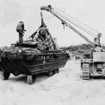 DUKW Amphibious Truck Loaded With Supplies Okinawa 1945