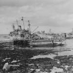 Destroyed Japanese ships Okinawa 1945