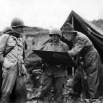 General Stilwell and Col. Pachler on Okinawa 1945