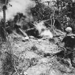 Marine Flame Thrower at Cave Okinawa