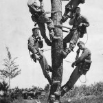 Marine Linemen Work on Communications on Okinawa