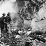 Marines Clear Japanese Cave with Flamethrower on Okinawa