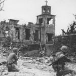 Marines Hunt Japanese Sniper Shuri Castle Okinawa 1945
