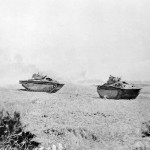 Marines Lvt Amtracs Amphibious Tractors On Okinawa 1945