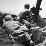 Marines Manning .30 Caliber Browing Machine Gun on Okinawa