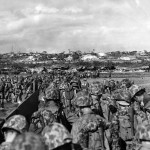 Marines Wade Ashore to Support Beachhead on Okinawa