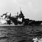 Naval gunfire support Okinawa 1945