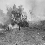 Soldiers Advance on Japanese Cave on Okinawa