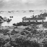 Troops Establishing Beachhead on Okinawa 1945