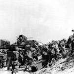 Troops Leaving Landing Craft during Invasion of Okinawa