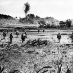 US Infantrymen Move Inland from Okinawa Beachhead