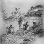 US Marines Closing in at old tomb Okinawa