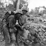 Wounded 5th Marines on Okinawa May 1945