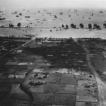 aerial view of beachhead Okinawa