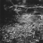 aerial view of during D Day April 1945 Okinawa