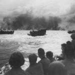 Landing Craft Transporting Marines to Peleliu Beach