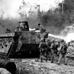 Marine LVT-4 Flame Thrower Amtrac On Peleliu
