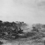 USMC artillery fire 75mm on Peleliu